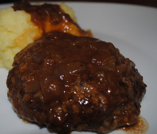 ... Salisbury Steaks with Carmelized Onion Gravy . Just looking at that