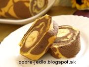 Strakatá banánová roláda - recept