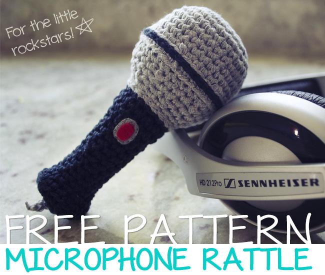 microfono sonajero, microphone rattle, patrón, pattern