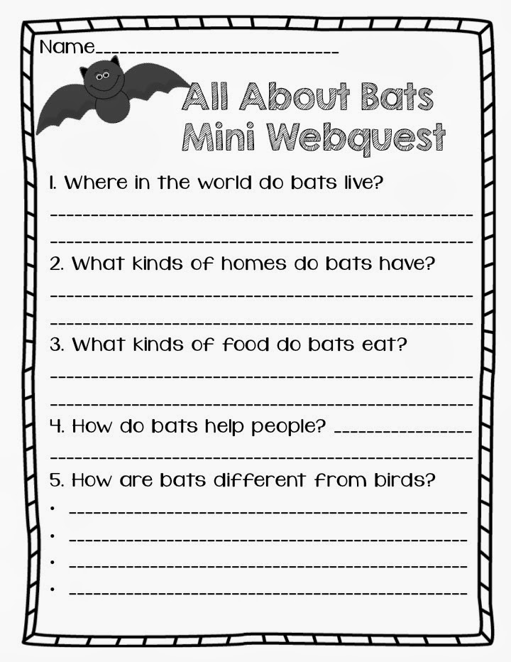 Throw Back Thursday Our Bat Unit Where the Wild Things Learn – Stellaluna Worksheets