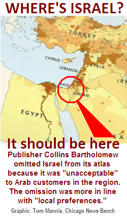 HarperCollins omits Israel from its map