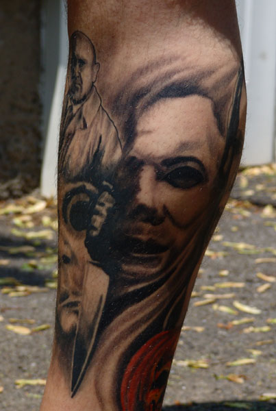 Check out this cool michael myers tattoo alien bee for Michael myers tattoo