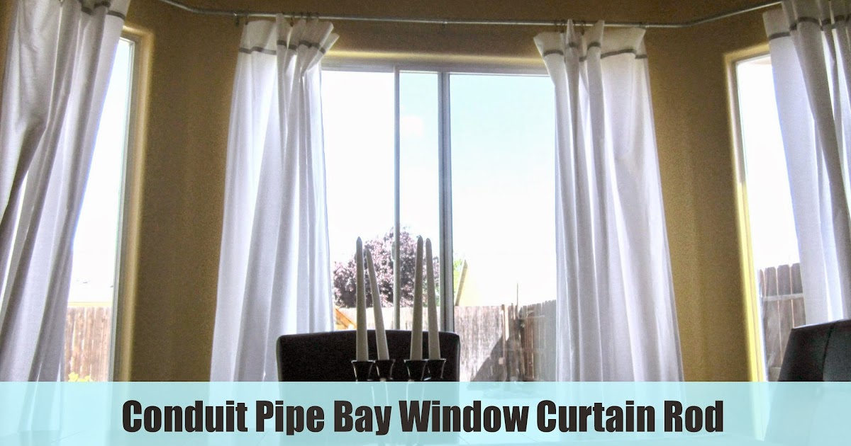 restoration beauty conduit pipe bay window curtain rod. Black Bedroom Furniture Sets. Home Design Ideas