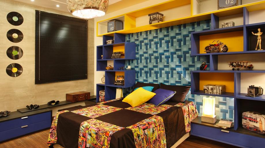 decoracao de sala para homens solteiros:Decoração de quartos masculino solteiro – veja 40 modelos lindos