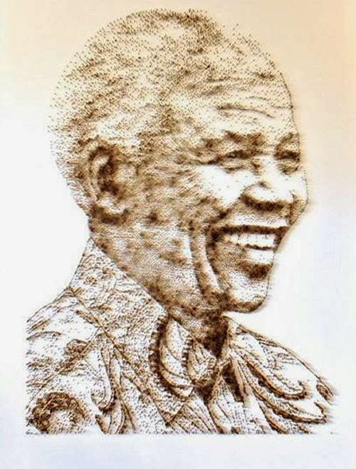 02-Nelson-Mandela-David-Foster-Stippling-Art-with-Nails-www-designstack-co