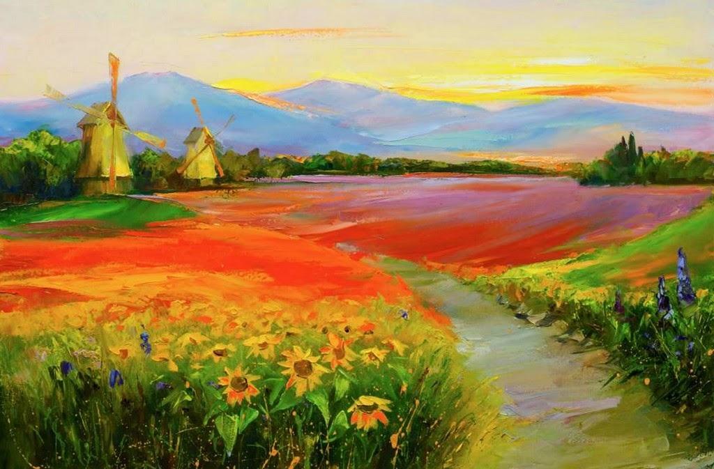 pinturas-decorativas-de-flores-en-paisajes
