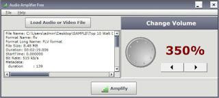 برنامج رفع الصوت للكمبيوتر Audio Amplifier