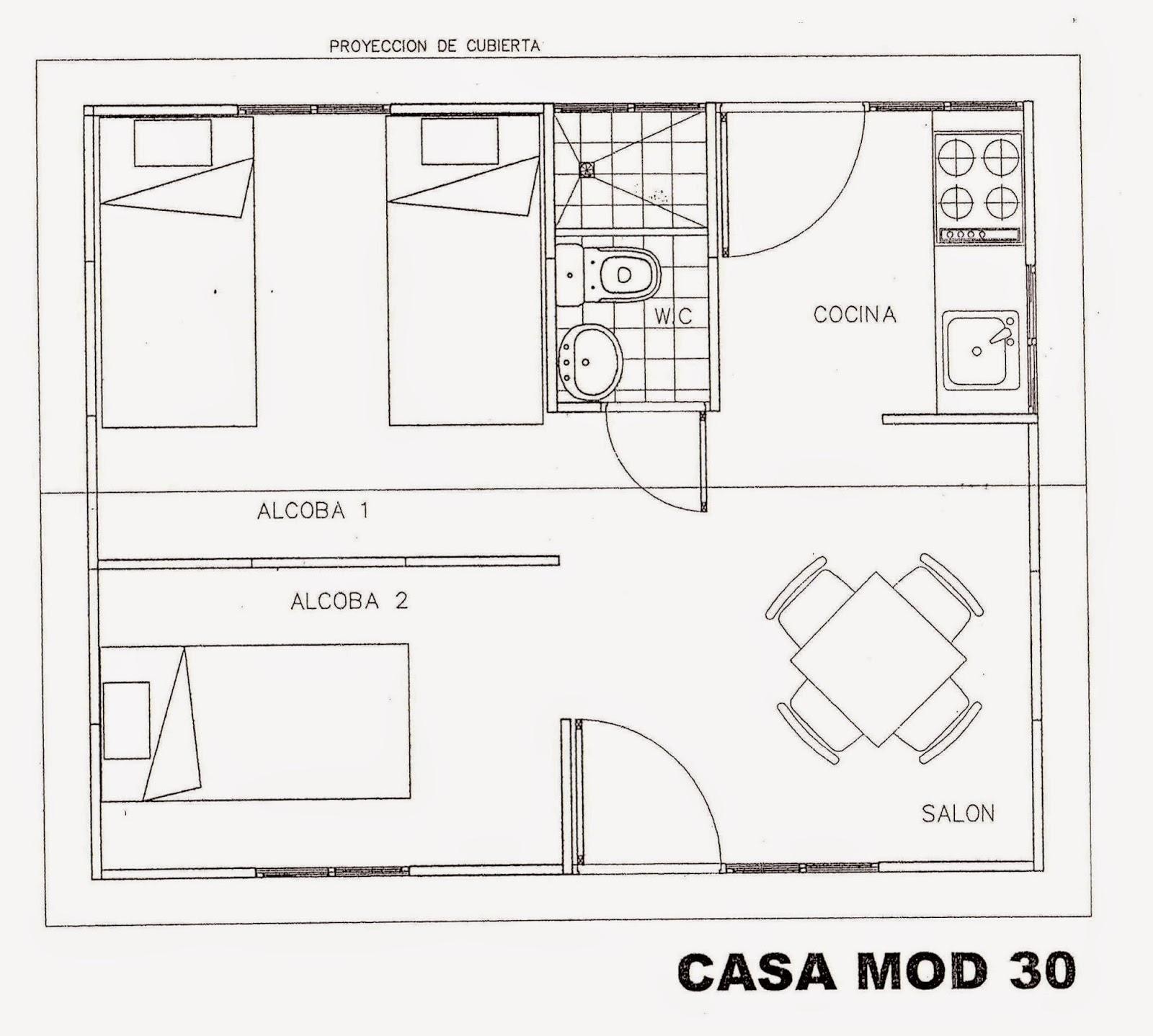 Casas prefabricadas cali colombia for Cocina 3x3 metros