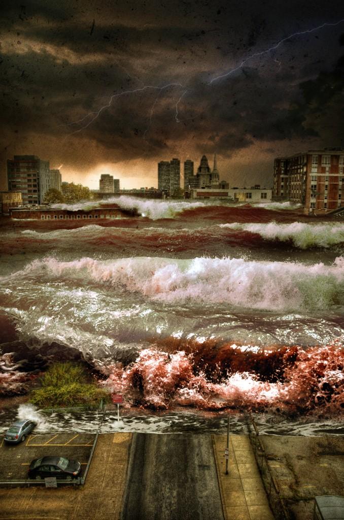 Apocalipse: Tsunami em São Paulo em 2036, arte digital