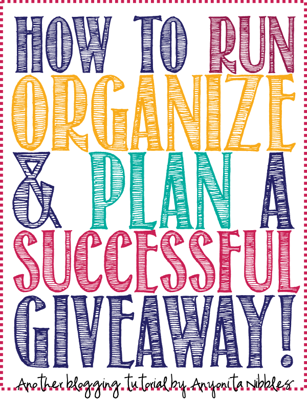 The definitive guide for running, organizing & planning a successful giveaway. If it's not here; you don't need to know it!