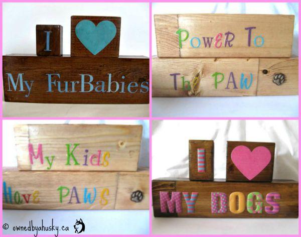 Handmade Pet Signs/Blocks