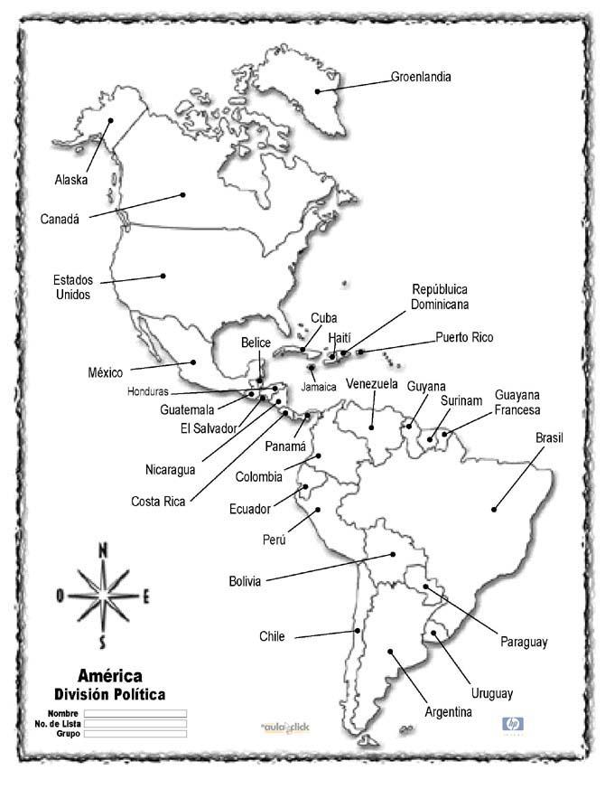 SOCIALES: AMÉRICA DIVISIÓN GEOGRÁFICA Y CULTURAL