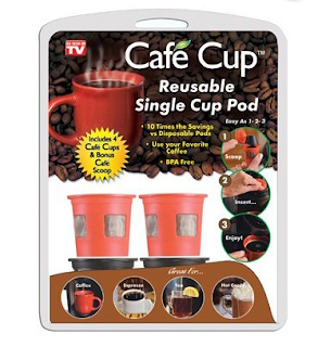 Cafe Cup - The reusable single brew cup you fill with your own coffee!