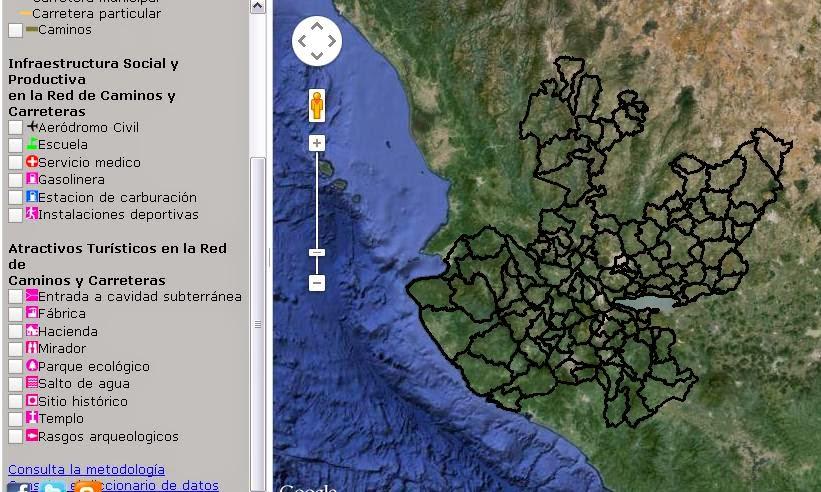 Atlas carretero de jalisco Mapas de caminos en el Estado gratis en linea