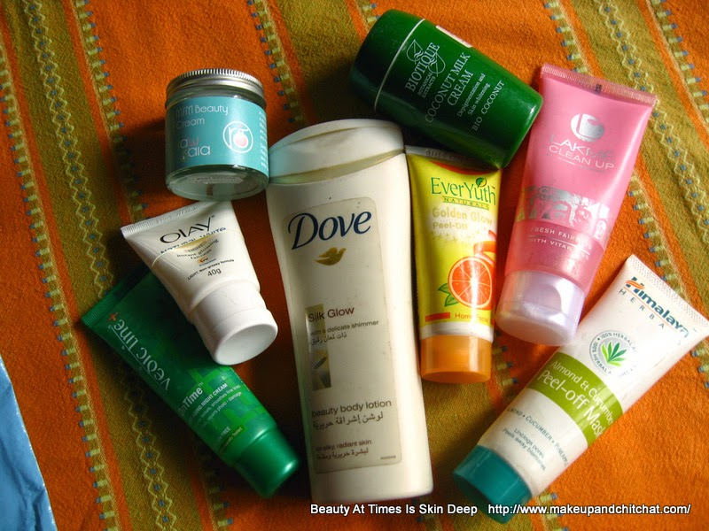 Skincare empties of ocotber