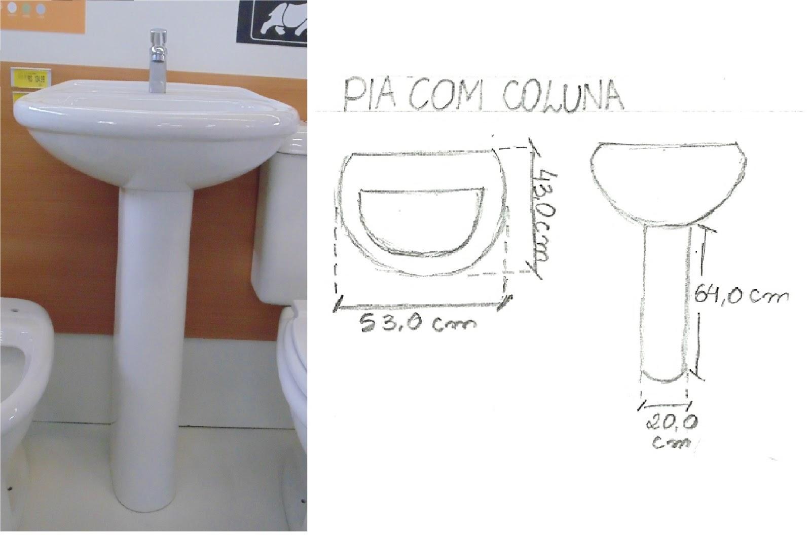 DESENHO DE ARQUITETURA 01 2013.1 #6A402F 1600x1056 Armario Banheiro Encaixe Coluna Pia