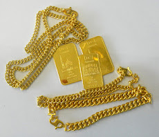 rantai tangan emas 999.9 harga sama dgn emas keping.