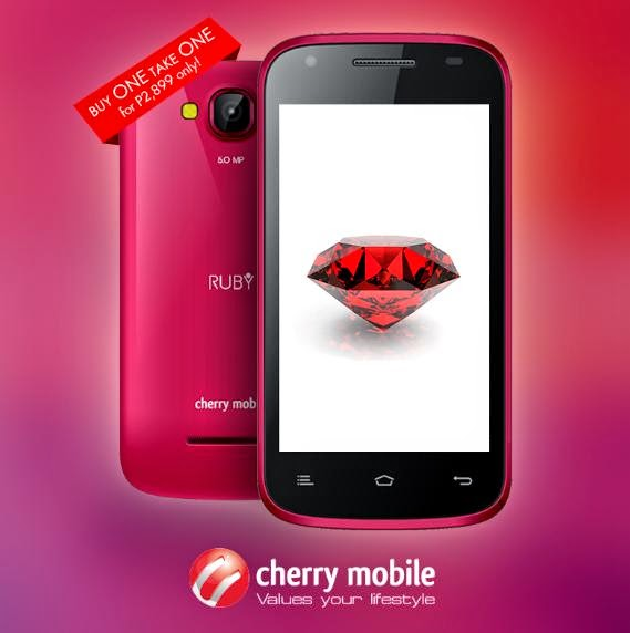 Cherry Mobile Ruby Buy 1 Take 1 Promo This April 15 to 16