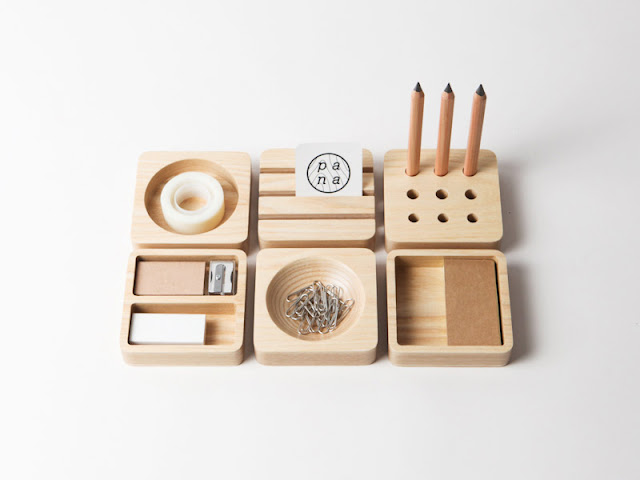 Sencillos accesorios de madera para decorar tu casa o la for Accesorios para oficina