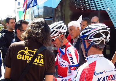 At La Volta with Joaquim Rodriguez