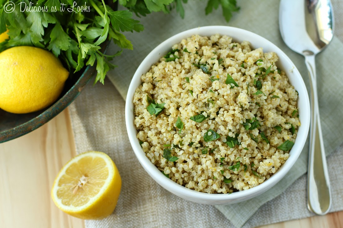 Lemon Herb Quinoa {Low-FODMAP, Gluten-Free, Vegan, Dairy-Free}  /  Delicious as it Looks