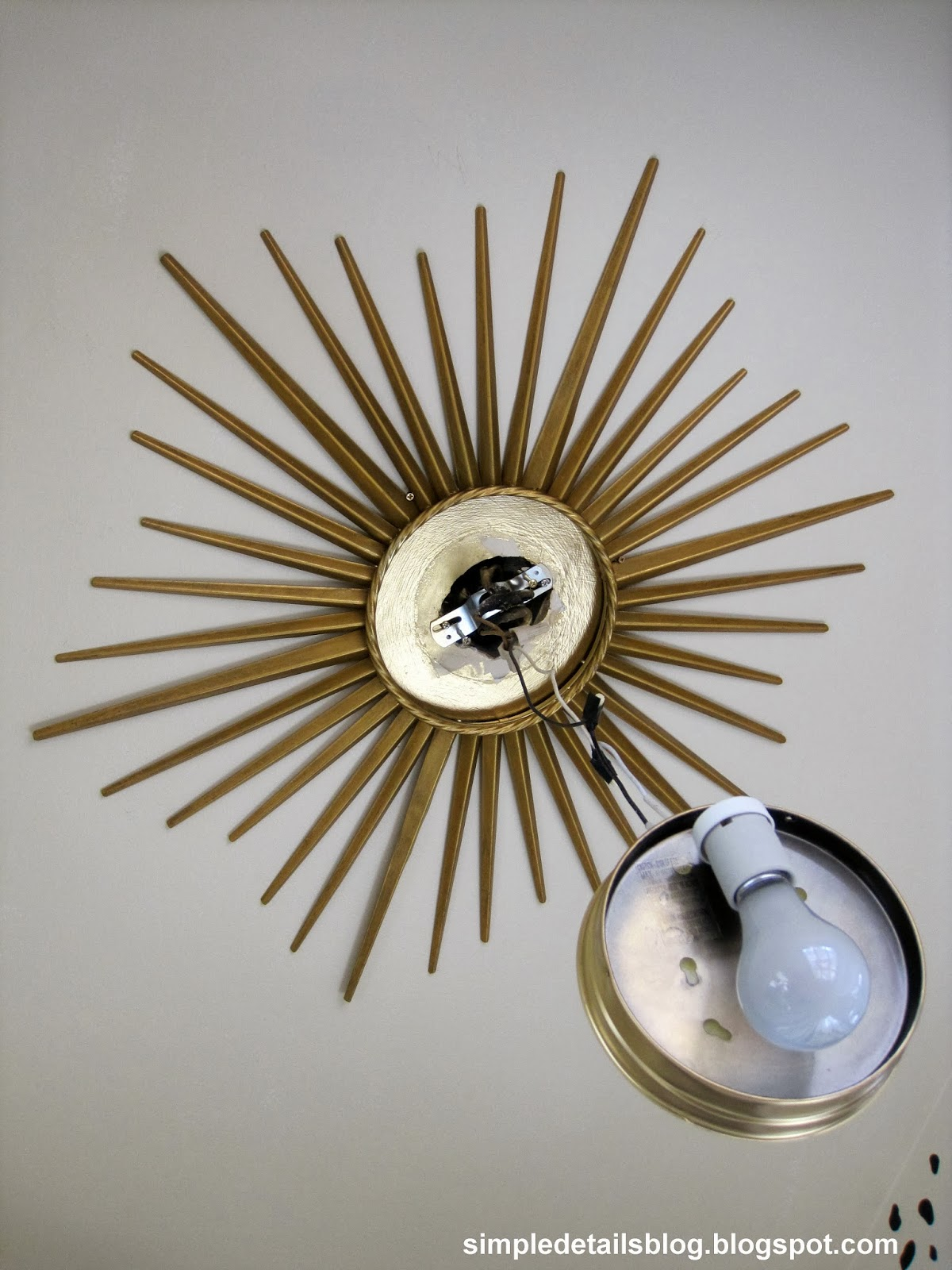 simple details diy gold sunburst flush mount light