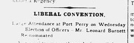 Image: Liberal Convention article appeared in Whitby Chronicle, 6 Mar 1896, p.4