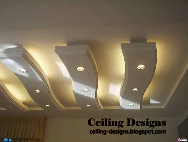gypsum false ceiling designs for living room with hidden lights