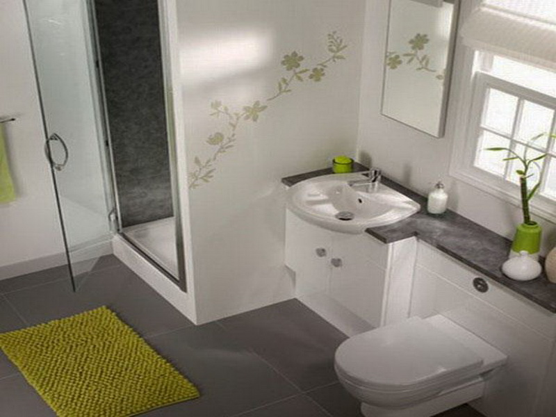 Small bathroom model with nice furniture for limited space bathroom - Nice bathroom designs for small spaces ...