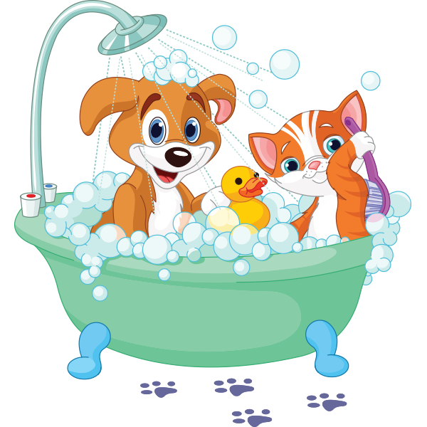 Puppy-Kitty Bubble Bath