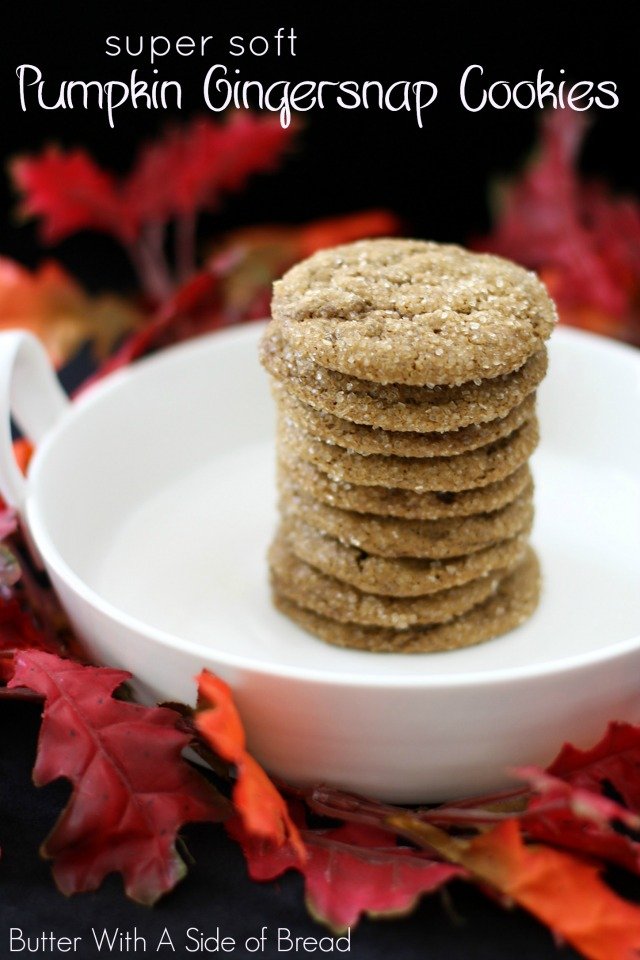 SOFT PUMPKIN GINGERSNAP COOKIES - Butter With a Side of Bread