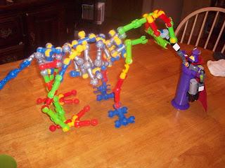Lego Zurg dual with T-Rex Zoob