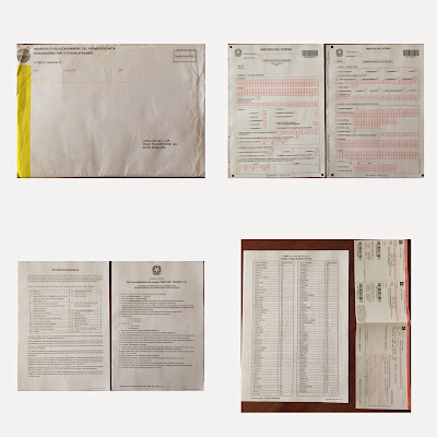 Permesso di soggiorno başvuru zarfı ve içinden çıkanlar