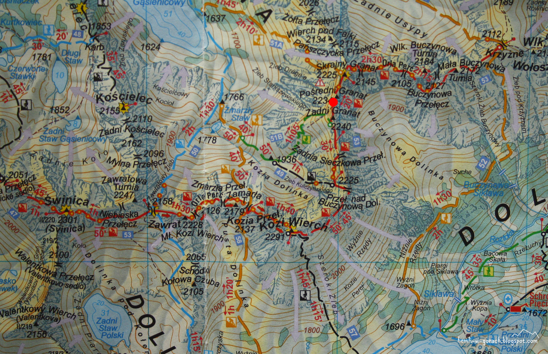 Pośrednia Sieczkowa Przełączka na mapie