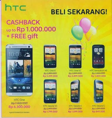 Harga Smartphone HTC di Indocomtech 2013