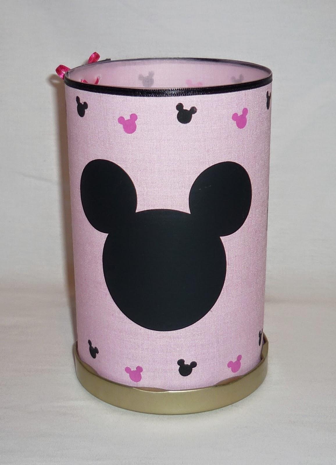 Centro de Mesa. Minnie Mouse. Pantalla. Fanal. Velas. Souvenir.