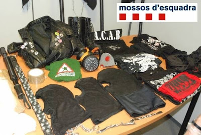 La represión del Estado y el fascismo responden a los mismos intereses Material+anarquistas