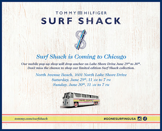 Tommy Hilfiger Surf Shack invite for Chicago