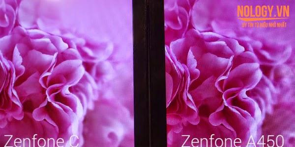 Asus Zenfone C và Asus Zenfone 4 A450 đọ dáng.