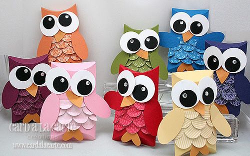 Cute Owl Pillow Boxes