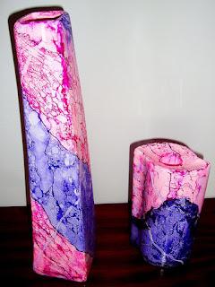 marmorização ou pintura  marmorizada em loiças , barro, terracota ou chacota