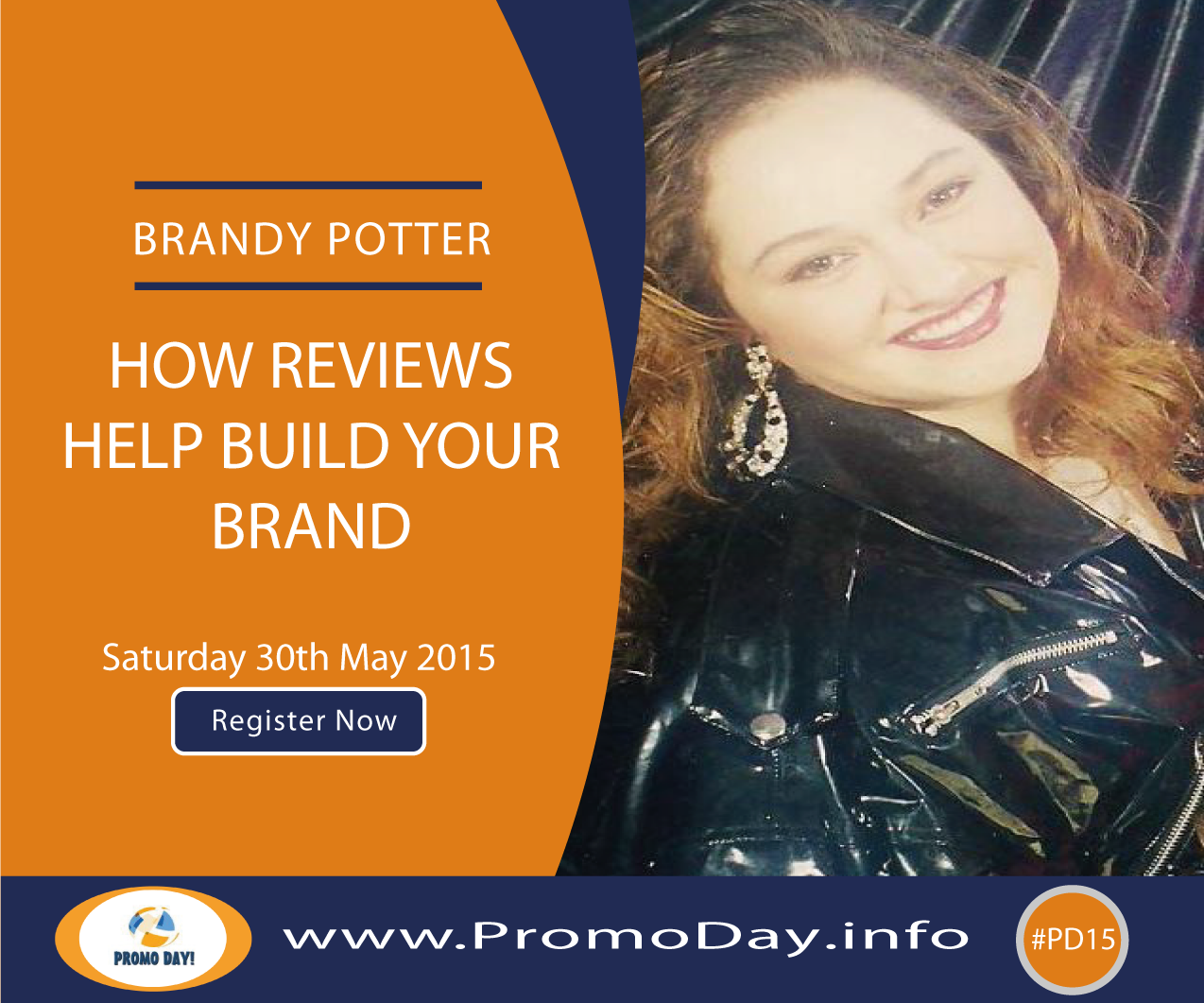 #PD15 Webinar: How Reviews help Build Your Brand with Brandy Potter. Register now at www.PromoDay.info
