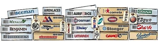 Marcas Armas de Aire, Airguns brands