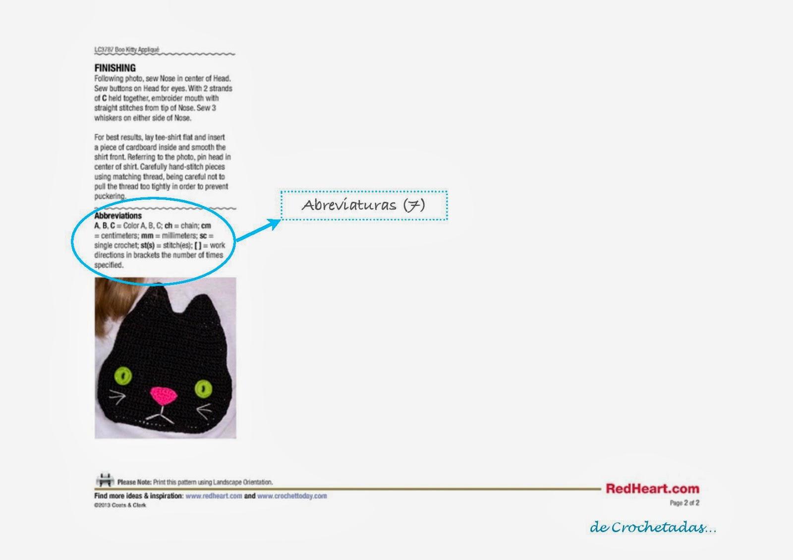Símbolos de ganchillo / crochet: parte II ~ Crochetadas