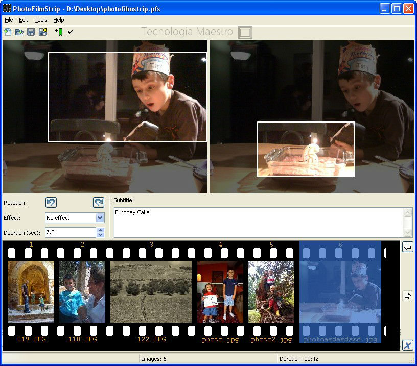 PhotoFilmStrip programa para hacer videos con fotos en Windows y Ubuntu
