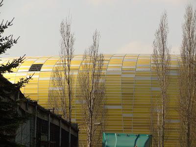 Świecąca elewacja Baltic Arena