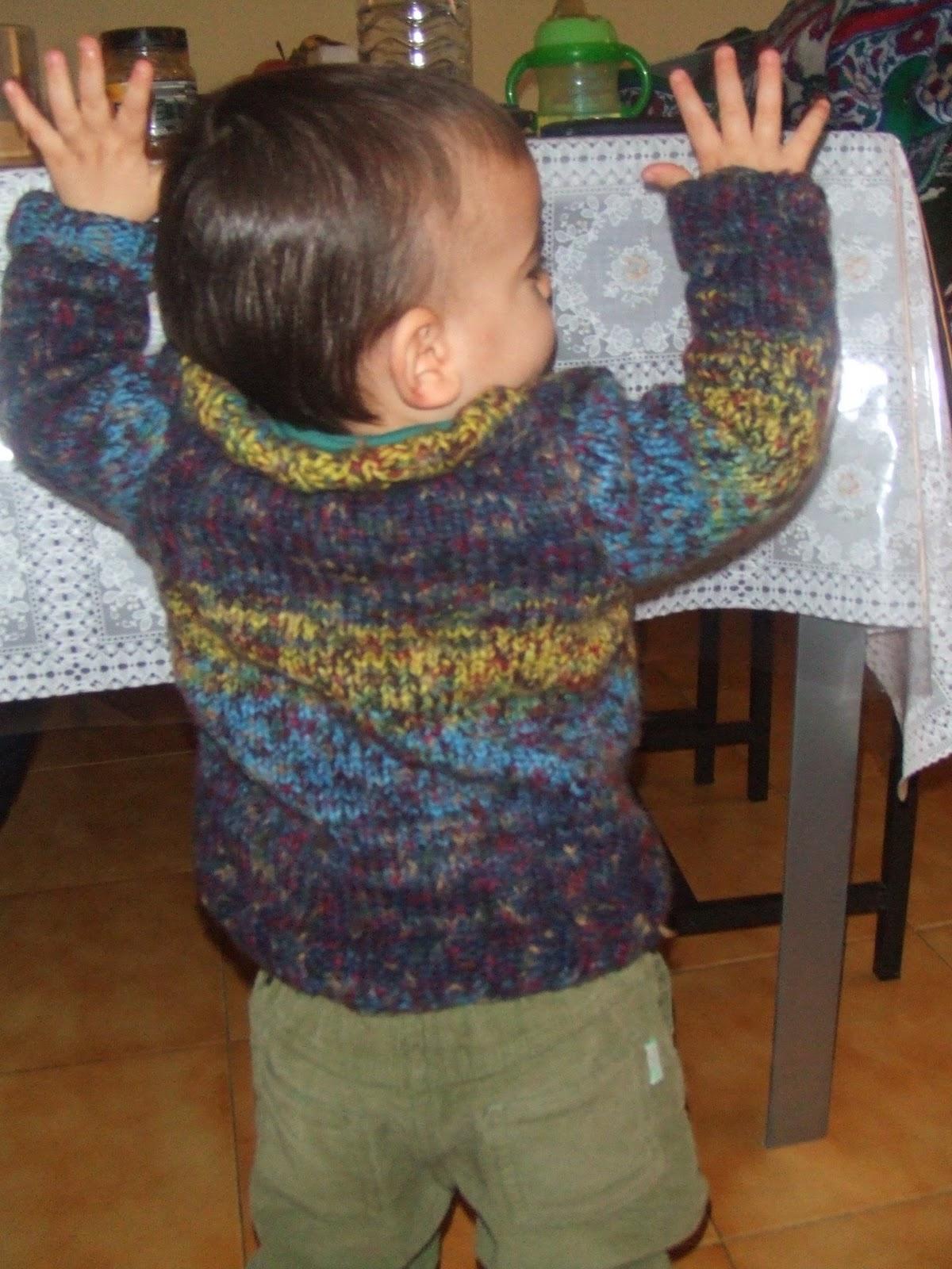 Mi mamá me mima: Jersey a dos agujas para bebe 18 meses