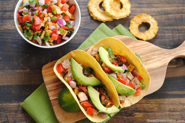 Grilled Pork Tacos with Pineapple Salsa