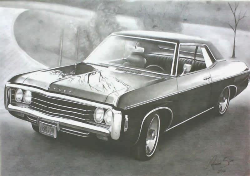 Carro (desenho em preto e branco)