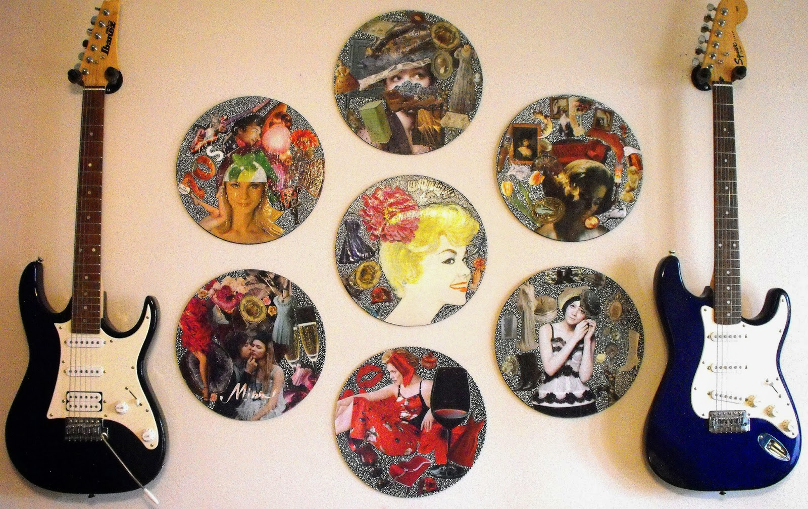 Upcycled Wall Art Eco Friendly Freckles A Tour Of My Art Studio And The Two Books